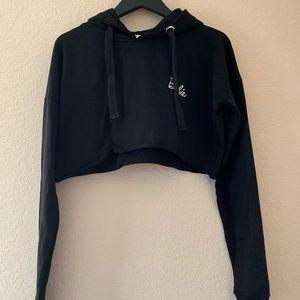 Cropped black Barbie hoodie